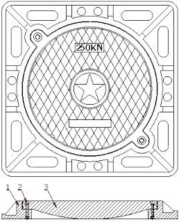 Bản vẽ thiết kế nắp hố ga